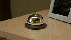 Hotel counter bell